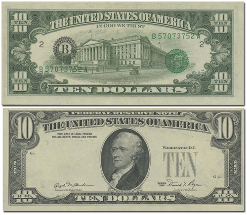 us currency back overprint error